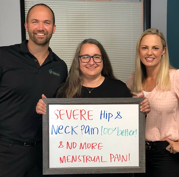 Upper Cervical Chiropractor in San Diego. Hip, Neck and Menstrual Pain 100% Better